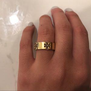 Gold Tory Burch ring